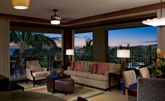 Koloa Landing Resort Living Room Poipu Beach Kauai Hawaii